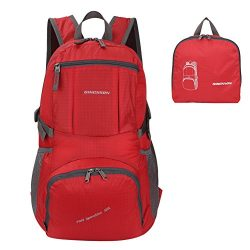 ORICSSON Large Foldable Water Resistant Hiking Camping Cycling Daypack Carry-on Handy Travel Bac ...