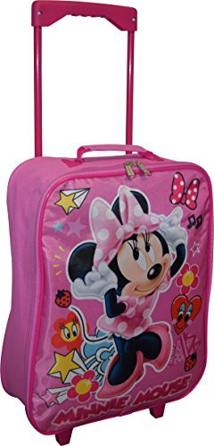 Disney Minnie Mouse 15″ Collapsible Wheeled Pilot Case – Rolling Luggage