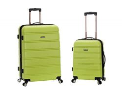 Rockland 20 Inch 28 Inch 2PC Expandable ABS Spinner Set, Lime, One Size