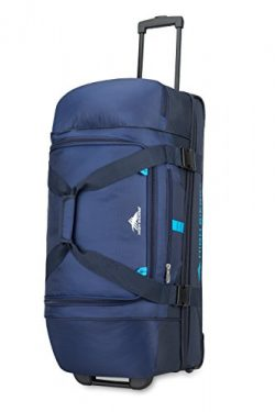 High Sierra 89573-6200 Evolution Wheeled Drop Bottom Duffel Bag, True Navy/Midnight/Pool, 30″