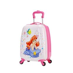 MOREFUN Kids' Luggage 18″ Hard Side Upright Carry On Lightweight Spinner Luggage (Me ...