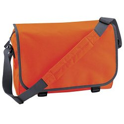 Bagbase Adjustable Messenger Bag (11 Liters) (One Size) (Orange/Graphite Grey)