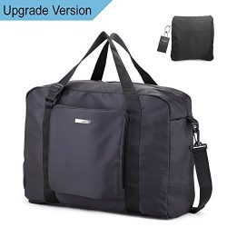 81e3b7413e35 Duffle Bag Travel Bag – Black Lightweight Foldable Large Capacity Canvas  Storage Luggage D ..