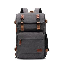 Amzbag Laptop Bag Convertible Backpack Messeng bag Laptop Case 17 Inches Water-resistance Canvas ...