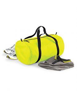 BagBase Packaway Barrel Bag/Duffel Water Resistant Travel Bag (32 Liters) (One Size) (Fluorescen ...