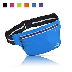 Ultra Slim Waist Fanny Packs, Fitters Niche Water Resistant Reflective Adjustable Running Elasti ...