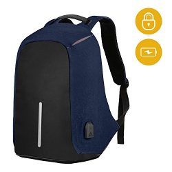 SySrion Travel Laptop Backpack, Business Anti-Theft Computer Backpack With USB Charging Port, Er ...