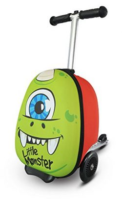 Flyte ZC04410 Zincflyte Kid's Luggage Scooter 15″-Sid the Cyclops, Green, One Size