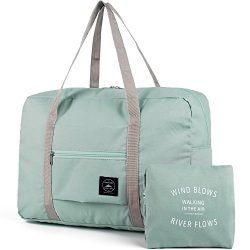 Packable Carry on Bag Travel Tote Weekender Sport Gym Duffle Bag for Women and Girls
