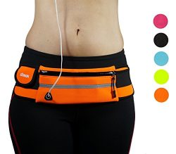 dimok Runners Favorite Waist Pack, Water Resistant, Reflective Belt for Running Hiking Fitness