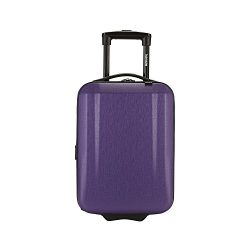 kensie 17″ Under Plane Seat Carry-On Luggage with Cup and Phone Convenience Holder, Purple ...