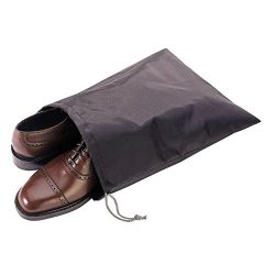 Malmo Travel Shoe Bags Set of 4 Waterproof Nylon with Drawstring for Men & Women (Brown)