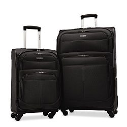 Samsonite Upspin Lightweight Softside Set (21″/29″), Only at Amazon, Black