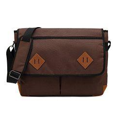 Kenox Vintage Canvas Laptop Messenger Bag School Bag Business Briefcase 16 Inches (Large, Coffee)