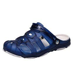 Aurorax Unisex Flip Flops Flat Sandals,Casual Vacation Beach Shoes for Men Women Slipper (V-Blue ...