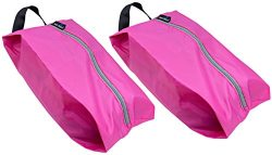 TRAVANDO Shoe Bag Set of 2 | Travel Accessories Essentials Travel Organizers Packing Cubes Suitc ...