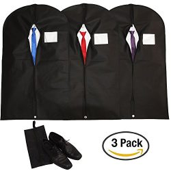 Hulix Premium Garment Bags | Breathable Suit Bag for men | Garment Bags for Travel and Storage | ...