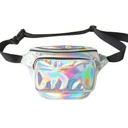 Dolores Women Fashion Hologram Laser Waist Bag Fanny Pack Zipper Waterproof Chest Pack Bum Bag B ...
