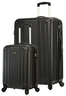 "TravelCross Milano Luggage Lightweight Spinner Set (Black, 2 piece set (20""/ 28""))"