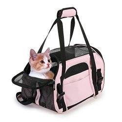 "Jespet Soft Sided Pet Carrier Comfort 17"" for Airline Travel, Portable Dog Tote Bag for Small An ..."