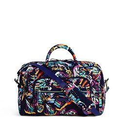 Vera Bradley Iconic Compact Weekender Travel Bag, Signature Cotton, Butterfly Flutter