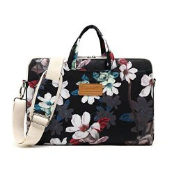 Canvaslife Lotus Patten Waterproof Laptop Shoulder Messenger Bag Case Sleeve for 12 inch 13 inch ...