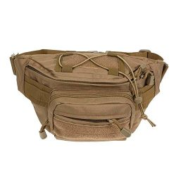 Stylish simplicity,Leisure,Waterproof Oxford Outdoor Wallet Chest Pack Waist Bag(Khaki) FINIFLY