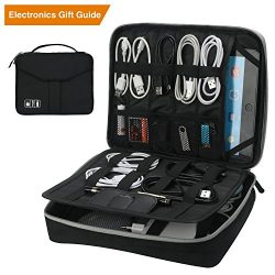 Vivefox Electronics Organizer, Double Layer Travel Gadget Electronic Accessories Bag for Cables, ...