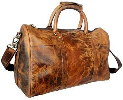 Leather Duffel Bags For Men – Airplane Underseat Carry On Luggage By RusticTown