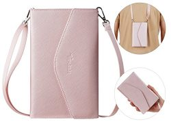 Travelambo Rfid Blocking Passport Holder Wallet & Travel Wallet Envelope 7 Colors (pinky gol ...