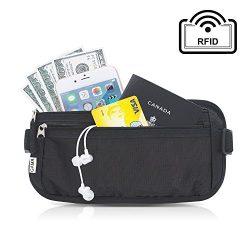 Money Belt for Travel, by Gama – RFID Blocking Fanny Pack, Hidden Passport Holder for Men  ...