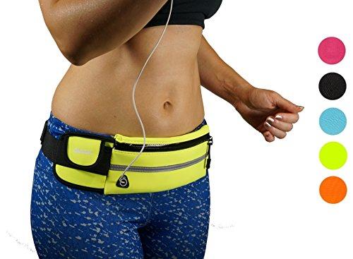 dimok Running Belt Waist Pack – Water Resistant Runners Belt Fanny Pack for Hiking Fitness ...