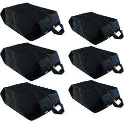 6 Premium Shoe Travel Bags for Women and Men | 3 Large and 3 Medium Nylon Zipper Bags for Storag ...