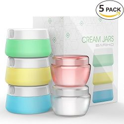 Travel Accessories Bottles Containers Sets, Silicone & PP Cream Jars for toiletries, Compact ...