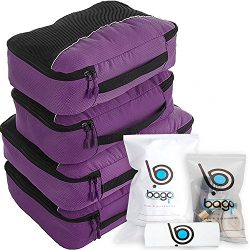 bago Packing Cubes For Travel Bags – Luggage Organizer 10pcs Set (Purple)