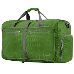 Gonex 80L Packable Travel Duffle Bag, Large Lightweight Luggage Duffel (Green)