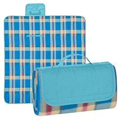 Luggage Spotter Outdoor Water Resistant Soft Fleece Picnic Blanket with Tote for Yoga, Beach, Co ...