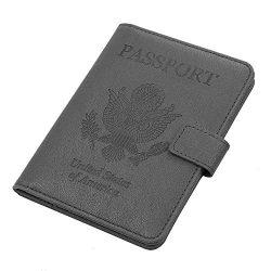 Vivefox RFID Leather Passport Holder Cover – Travel Passport Wallet Document Organizer Id  ...