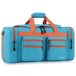 Gonex 45L Travel Duffel, Gym Sports Luggage Bag Water-resistant Many Pockets(Turquoise)