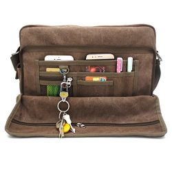 Mens messenger bags, MiCoolker Men's Multifunctional Business Class Laptop Briefcase Canva ...