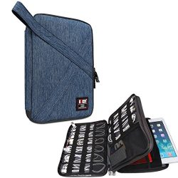 BUBM Electronic Accessories Organizer, Double Layer Travel Gadget Bag for Cable, USB Hard Drive, ...