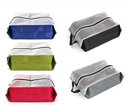 Travel Shoe Bags Waterproof Nylon for Women & Men,Shoe Tote bags for Sport Gym,5 PCS (Multic ...