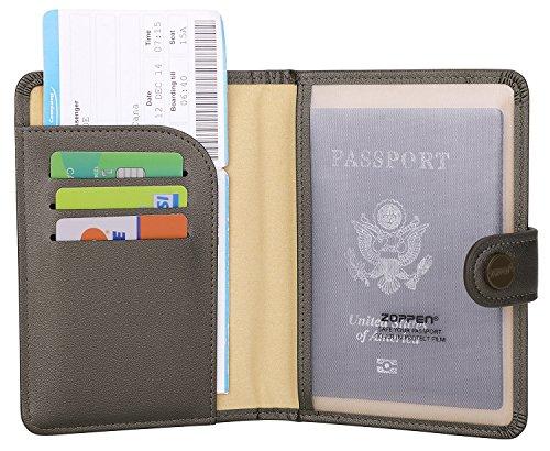 f29c2ba83af Zoppen Rfid Blocking Travel Passport Holder Cover Slim Id Card Case  39  Silver Gray (