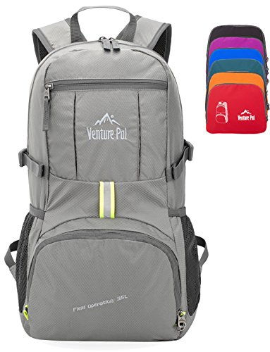 Venture Pal 35L Travel Backpack – Packable Durable Lightweight Hiking  Backpack Daypack (Grey) dbef12a9cde35
