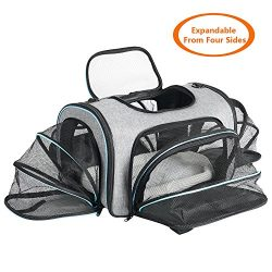 Airline Approved Pet Carrier Expanable- SUKI&SAMI Four Side EXpansion Oxford Portable Sofe-S ...