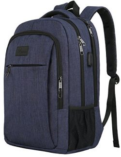 Laptop Backpack with USB Charging Port,Slim Travel Backpack with Laptop Compartment for Men and  ...