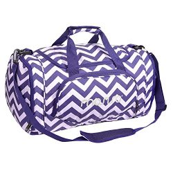 MOSISO Gym Bags Polyester Sports Travel Overnight Duffels for Men/Ladies, Chevron Purple