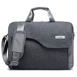 CoolBELL 15.6 Inch Nylon Laptop Bag Shoulder Bag With Strap Multicompartment Messenger Hand Bag  ...