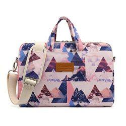 Canvaslife Pink triangle Pattern 15 inch Waterproof Laptop Shoulder Messenger Bag Case With Rebo ...