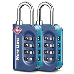 Newtion TSA Lock 2 Pack,TSA Approved Luggage lock,Travel Lock with Double Color Alloy Body,4 Dig ...